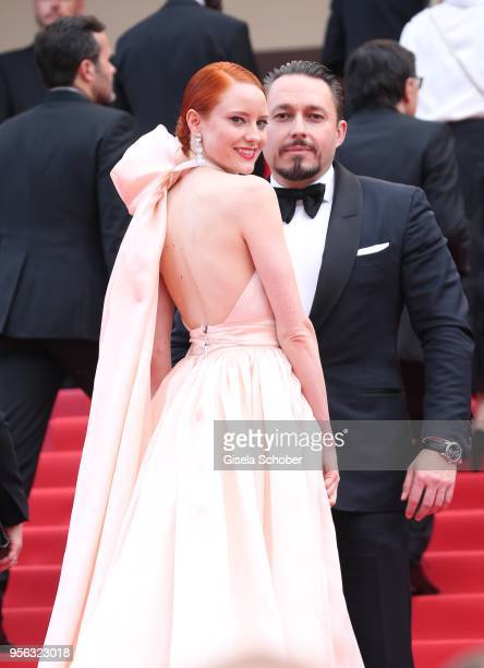 Barbara Meier and her boyfriend Klemens Hallman attend the screening of 'Everybody Knows ' and the opening gala during the 71st annual Cannes Film...