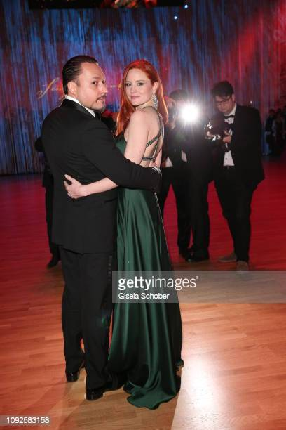 Barbara Meier and her fiance Klemens Hallmann during the 14th Semper Opera Ball 2019 at Semperoper on February 1 2019 in Dresden Germany