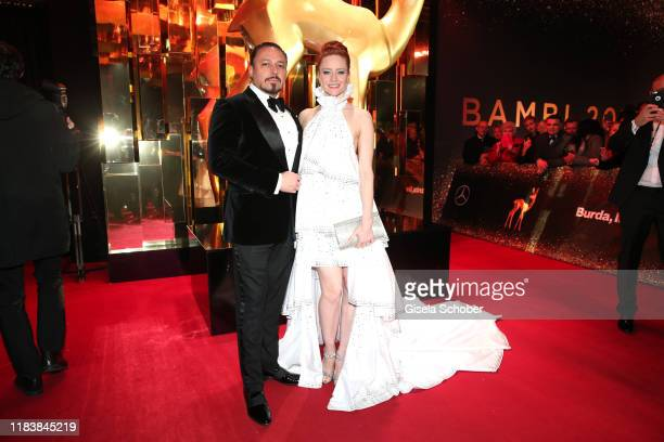 Barbara Meier and her husband Klemens Hallmann during the 71tst Bambi Awards at Festspielhaus Baden-Baden on November 21, 2019 in Baden-Baden,...