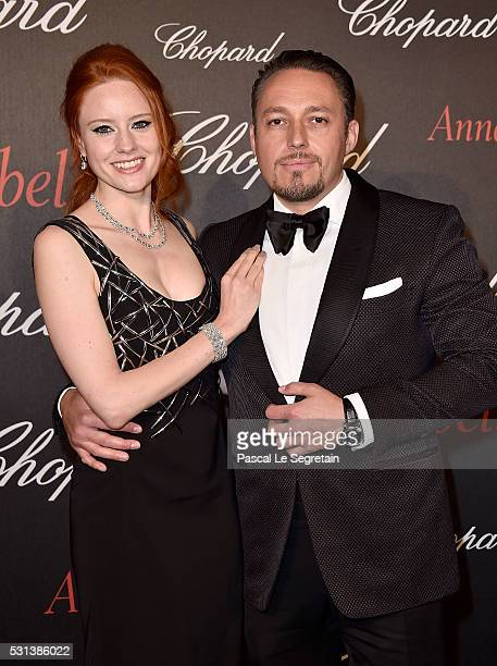 Barbara Meier and Klemens Hallmann attend the Chopard Gent's Party at Annabel's in Cannes during the 69th Cannes Film Festival on May 14 2016 in...
