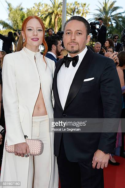 Barbara Meier and Klemens Hallmann attend the 'Julieta' premiere during the 69th annual Cannes Film Festival at the Palais des Festivals on May 17...
