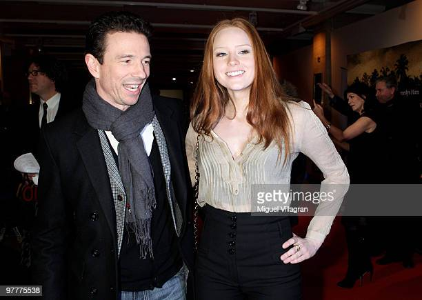 Barbara Meier and Oliver Berben attend the German premiere of 'Kennedy's Hirn' on March 16 2010 in Munich Germany