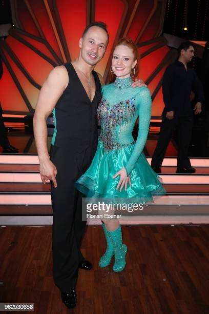 Barbara Meier and Sergiu Luca during the 10th show of the 11th season of the television competition 'Let's Dance' on May 25 2018 in Cologne Germany