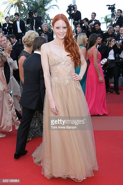 Barbara Meier attends a screening of 'The Last Face' at the annual 69th Cannes Film Festival at Palais des Festivals on May 20 2016 in Cannes France