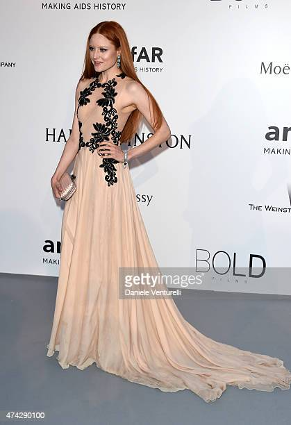 Barbara Meier attends amfAR's 22nd Cinema Against AIDS Gala Presented By Bold Films And Harry Winston at Hotel du CapEdenRoc on May 21 2015 in Cap...