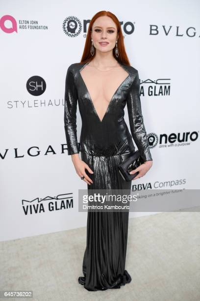 Barbara Meier attends the 25th Annual Elton John AIDS Foundation's Academy Awards Viewing Party at The City of West Hollywood Park on February 26...