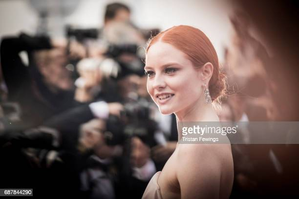 Barbara Meier attends the 70th Anniversary screening during the 70th annual Cannes Film Festival at Palais des Festivals on May 23 2017 in Cannes...