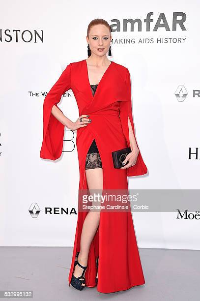 Barbara Meier attends the amfAR's 23rd Cinema Against AIDS Gala Dinner at the annual 69th Cannes Film Festival at Hotel du CapEdenRoc on May 19 2016...