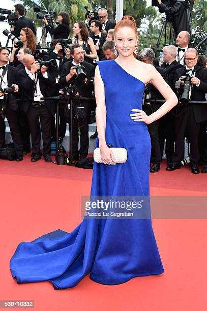 """Barbara Meier attends the """"Cafe Society"""" premiere and the Opening Night Gala during the 69th annual Cannes Film Festival at the Palais des Festivals..."""