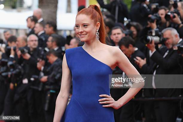 Barbara Meier attends the 'Cafe Society' premiere and the Opening Night Gala during the 69th annual Cannes Film Festival at the Palais des Festivals...