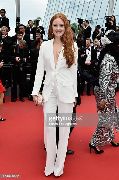 Barbara Meier attends the closing ceremony and 'Le Glace Et Le Ciel' Premiere during the 68th annual Cannes Film Festival on May 24 2015 in Cannes...