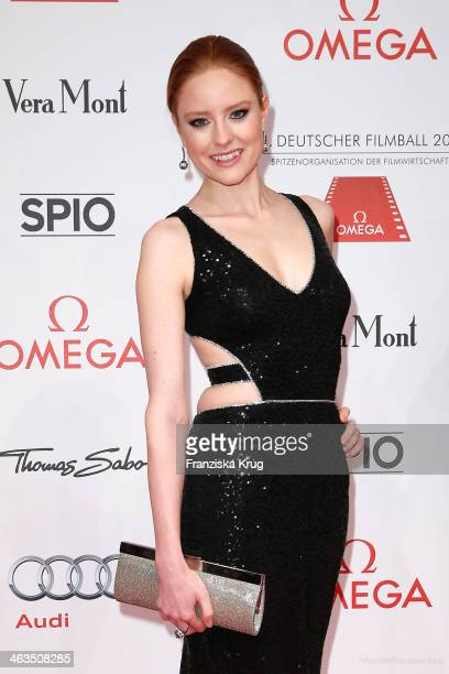 Barbara Meier attends the German Film Ball 2014 on January 18 2014 in Munich Germany