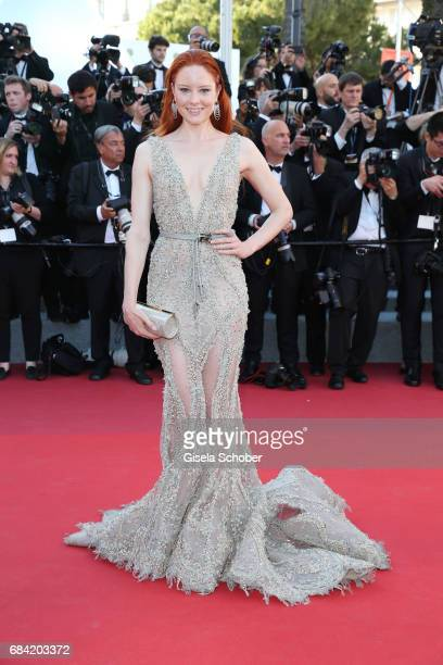 Barbara Meier attends the Ismael's Ghosts screening and Opening Gala during the 70th annual Cannes Film Festival at Palais des Festivals on May 17...