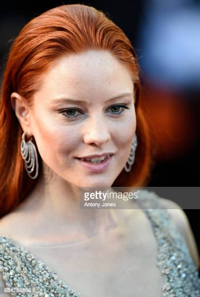 Barbara Meier attends the 'Ismael's Ghosts ' screening and Opening Gala during the 70th annual Cannes Film Festival at Palais des Festivals on May 17...