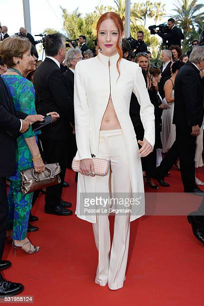 Barbara Meier attends the 'Julieta' premiere during the 69th annual Cannes Film Festival at the Palais des Festivals on May 17 2016 in Cannes France