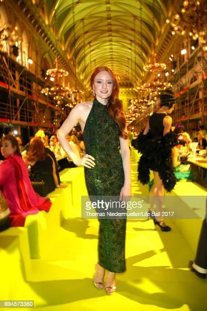 Barbara Meier attends the Life Ball 2017 Gala Dinner at City Hall on June 10 2017 in Vienna Austria