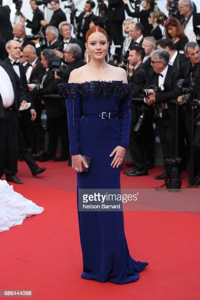 Barbara Meier attends 'The Meyerowitz Stories' screening during the 70th annual Cannes Film Festival at Palais des Festivals on May 21 2017 in Cannes...