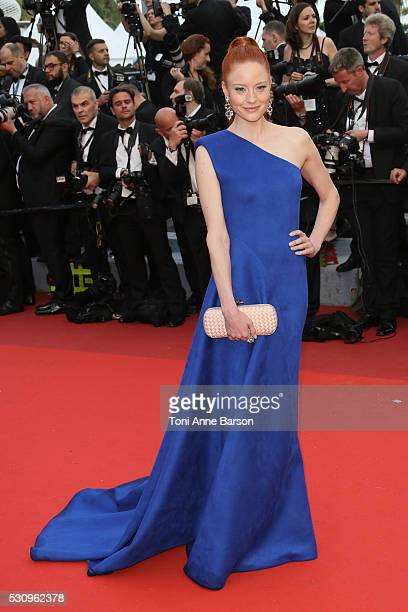 Barbara Meier attends the screening of 'Cafe Society' at the opening gala of the annual 69th Cannes Film Festival at Palais des Festivals on May 11...