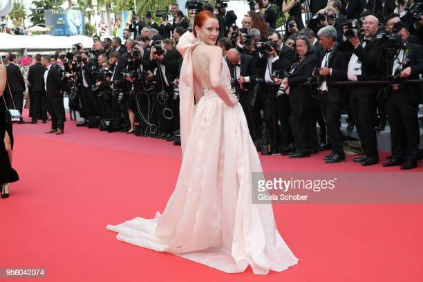Barbara Meier attends the screening of 'Everybody Knows ' and the opening gala during the 71st annual Cannes Film Festival at Palais des Festivals on...