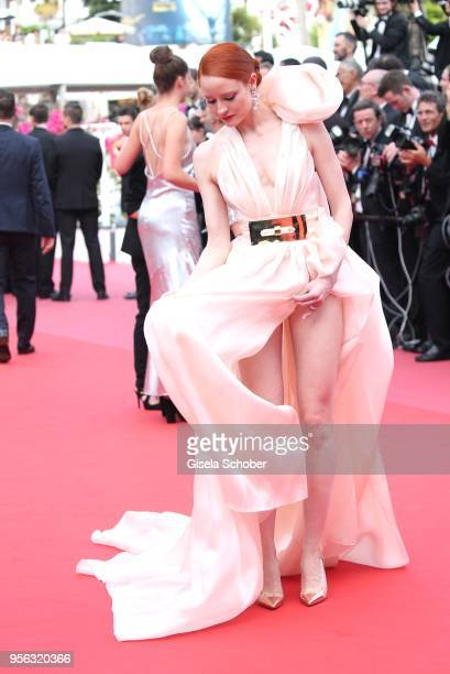 Barbara Meier attends the screening of Everybody Knows and the opening gala during the 71st annual Cannes Film Festival at Palais des Festivals on...