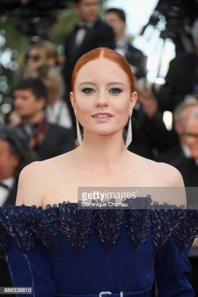 Barbara Meier attends the 'The Meyerowitz Stories' screening during the 70th annual Cannes Film Festival at Palais des Festivals on May 21 2017 in...