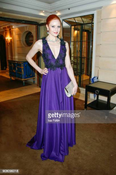 Barbara Meier during the Burda Style Lounge on the occasion of the German Film Ball on January 20 2018 in Munich Germany