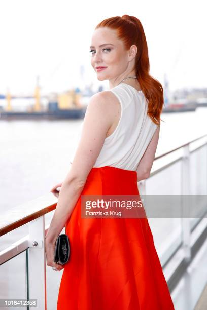 Barbara Meier during the FASHION2NIGHT event on board the EUROPA 2 on August 17, 2018 in Hamburg, Germany.