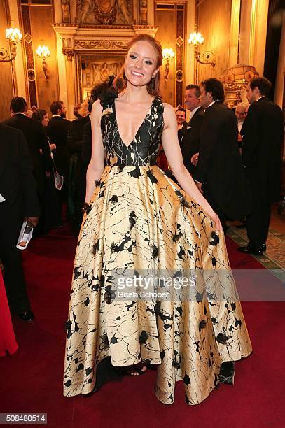 Barbara Meier during the Opera Ball Vienna 2016 at Vienna State Opera on February 4 2016 in Vienna Austria