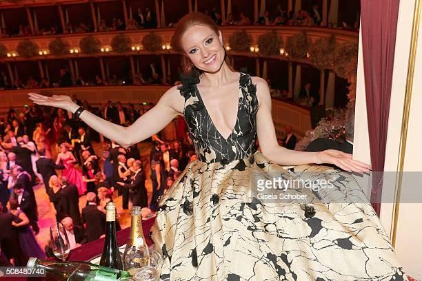 Barbara Meier during the Opera Ball Vienna 2016 at Vienna State Opera on February 4 2016 in Vienna Austria