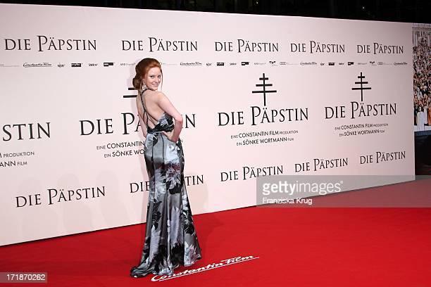 Barbara Meier In The World Premiere Of The film 'Pope Joan' in Cinestar Sony Center in Berlin