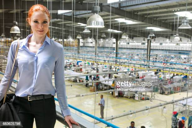 Barbara Meier model and BMZ textile ambassador while her visit at the textile production JayJay Textiles in Ethiopia Here among other things the H M...