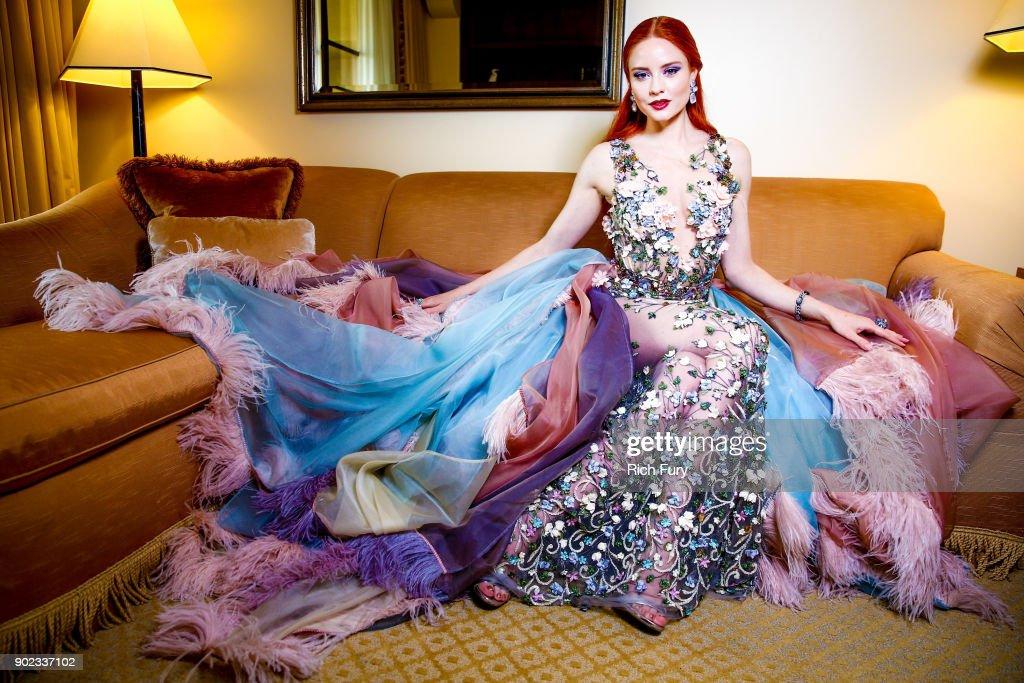Barbara Meier Prepares For The 75th Annual Golden Globe Awards