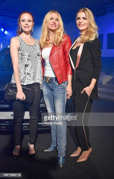 Barbara Meier, Sonya Kraus and Tanja Buelter during the Cupra x Berlin Night by Seat event at U3-Tunnel on November 30, 2018 in Berlin, Germany.