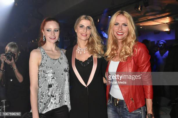 Barbara Meier Tanja Buelter and Sonya Kraus during the Cupra x Berlin Night by Seat event at U3Tunnel on November 30 2018 in Berlin Germany