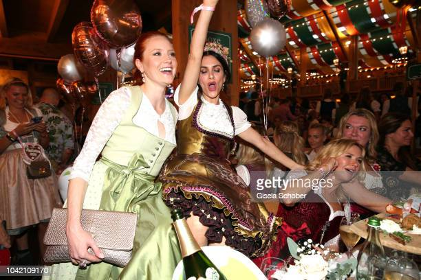 Barbara Meier Viktoria Lauterbach Veronica Ferres during the Madlwiesn as part of the Oktoberfest 2018 at Schuetzenfesthalle tent at Theresienwiese...