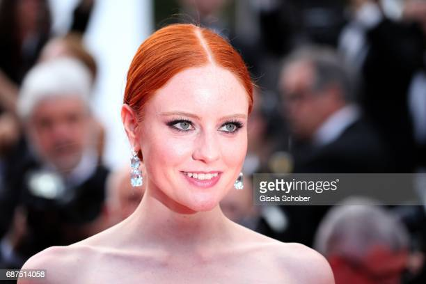 Barbara Meier wearing earings by Thomas Jirgens Juwelenschmiede during the 70th Anniversary screening during the 70th annual Cannes Film Festival at...