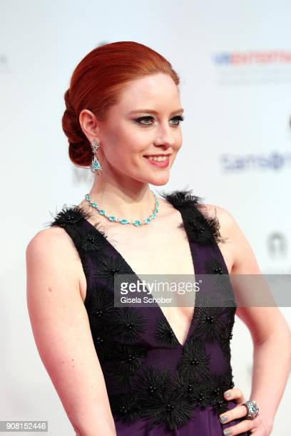 Barbara Meier wearing jewelry by Thomas Jirgens Juwelenschmiede during the German Film Ball 2018 at Hotel Bayerischer Hof on January 20 2018 in...