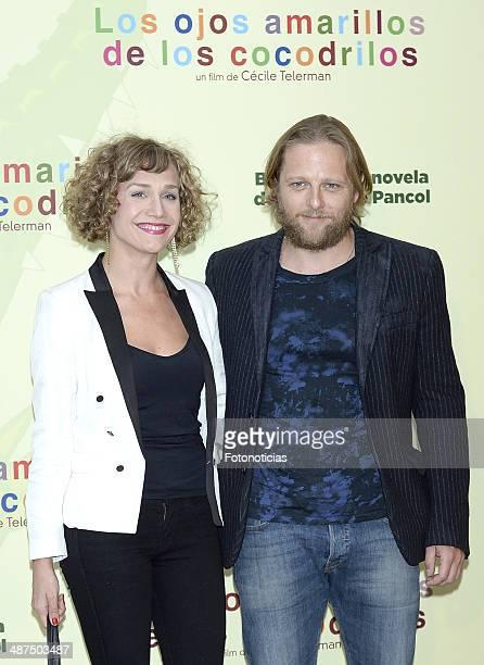 Barbara Merlo and Juan Diaz attend the 'Los Ojos Amarillos de los Cocodrilos' premiere the Academia del Cine on April 30 2014 in Madrid Spain