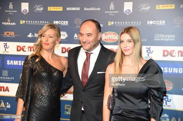 Barbara Mietti and Gigi Casiraghi attend the 'Oscar Del Calcio AIC' Italian Football Awards on December 3 2018 in Milan Italy