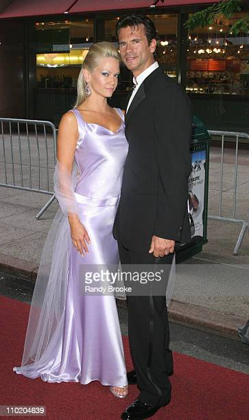 Barbara Moore and Lorenzo Lamas during 31st Annual Daytime Emmy Awards Arrivals at Radio City Music Hall in New York City New York United States