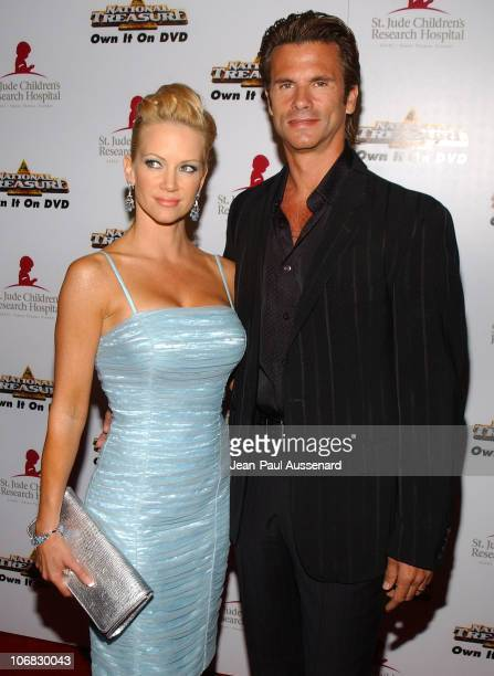 Barbara Moore and Lorenzo Lamas during 3rd Annual Runway For Life Benefiting St Jude Children's Research Hospital Arrivals at Beverly Hilton in...