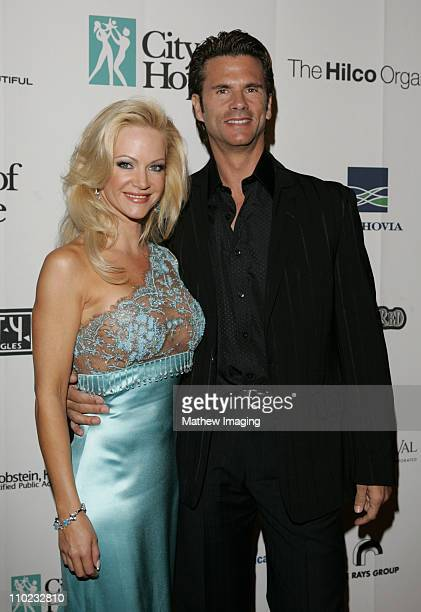 Barbara Moore and Lorenzo Lamas during City of Hope 2005 Award of Hope Gala Arrivals at The Beverly Hilton Hotel in Beverly Hills California United...