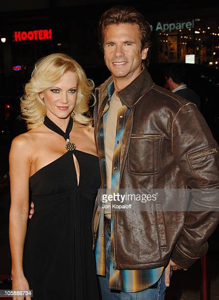 """Barbara Moore and Lorenzo Lamas during """"Firewall"""" Los Angeles Premiere - Arrivals at Grauman's Chinese Theatre in Hollywood, California, United..."""