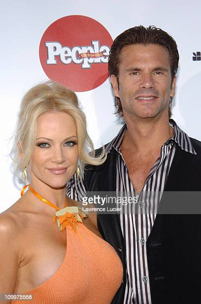 Barbara Moore and Lorenzo Lamas during People En Espanol's 4th Annual 50 Most Beautiful Gala Arrivals at Capitale in New York City New York United...