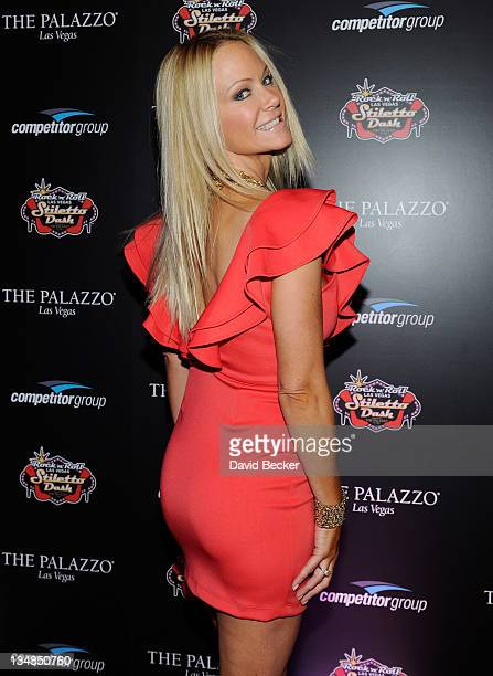 Barbara Moore arrives at the Rock 'n' Roll Las Vegas Stiletto Dash at The Palazzo on December 3 2011 in Las Vegas Nevada