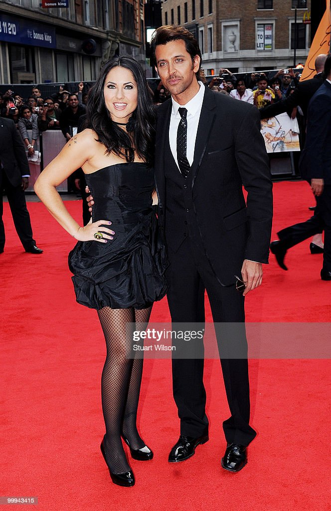 Barbara Mori and Hrithik Roshan attend the European Premiere of 'Kites' at Odeon West End on May 18, 2010 in London, England.