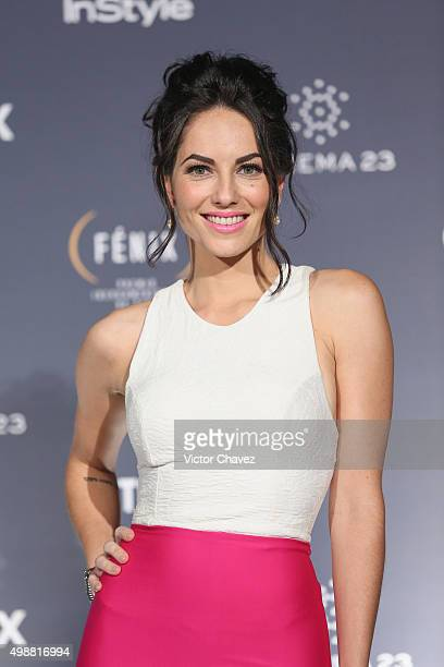 Barbara Mori attends the Premio Iberoamericano de Cine Fenix 2015 at Teatro de La Ciudad on November 25 2015 in Mexico City Mexico