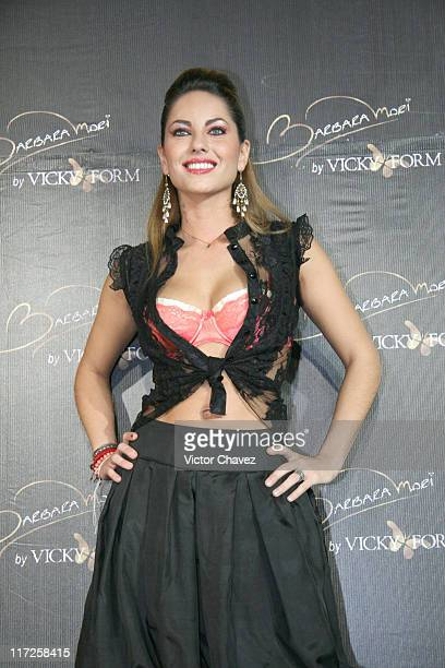 Barbara Mori during Barbara Mori Lingerie by Vicky Form Collection Photocall April 25 2006 at Museo Rufino Tamayo in Mexico City Mexico