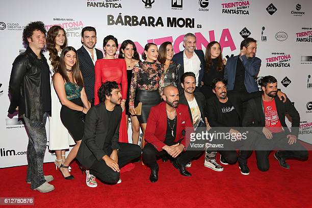 Barbara Mori Marimar Vega Juan Pablo Medina Natasha Dupeyron film director Chava Cartas Rodrigo Davila Chapoy and cast members of the film attend the...