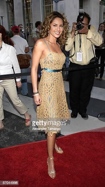 Barbara Mori poses at the Colony Theatre on Lincoln Road following the world premiere of Pretentiendo at the 2006 Miami International Film Festival...